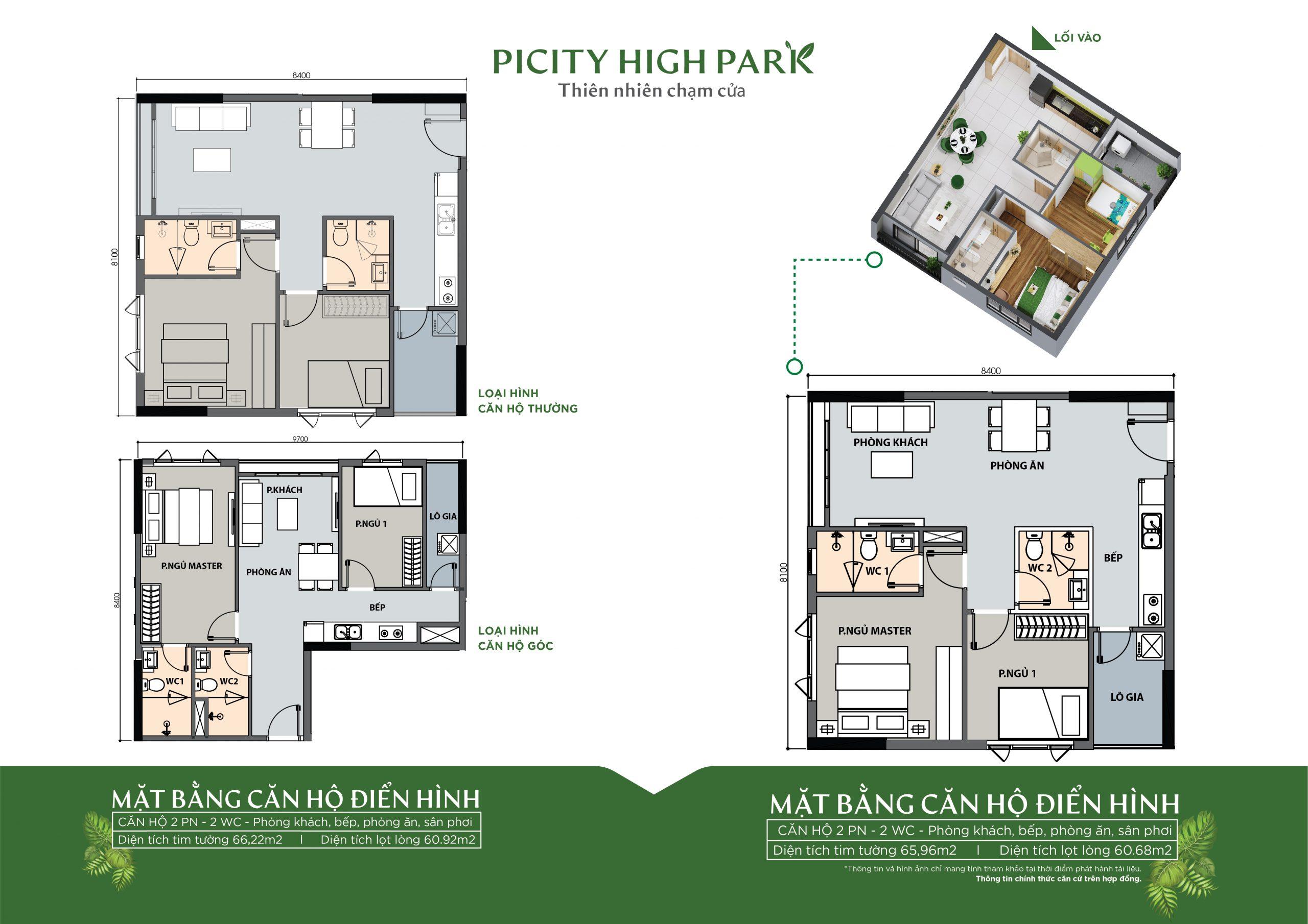 Thiết kế căn hộ block 4 dự án Picity High Park