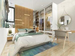 Phòng ngủ master căn hộ Picity High Park Thạnh Xuân