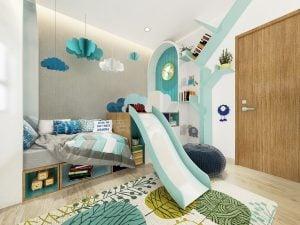Phòng ngủ nhỏ căn hộ Picity High Park Thạnh Xuân